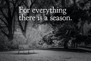 When grief is the season